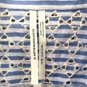 Anthropologie Dresses - Anthropologie Kismet Shirtdress Striped Eyelet